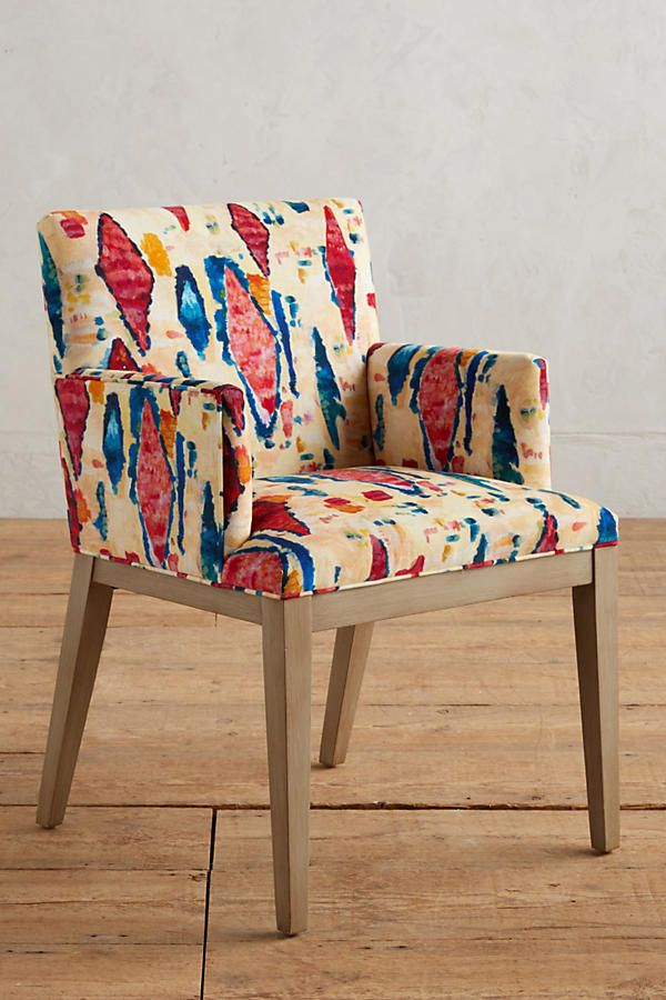 Slide View: 1: Medina Abstract Printed Emrys Armchair
