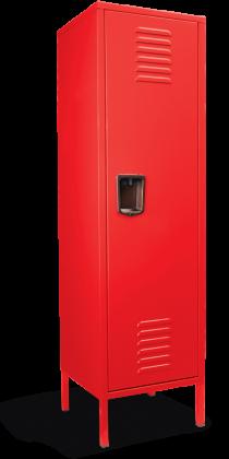 Funky red locker