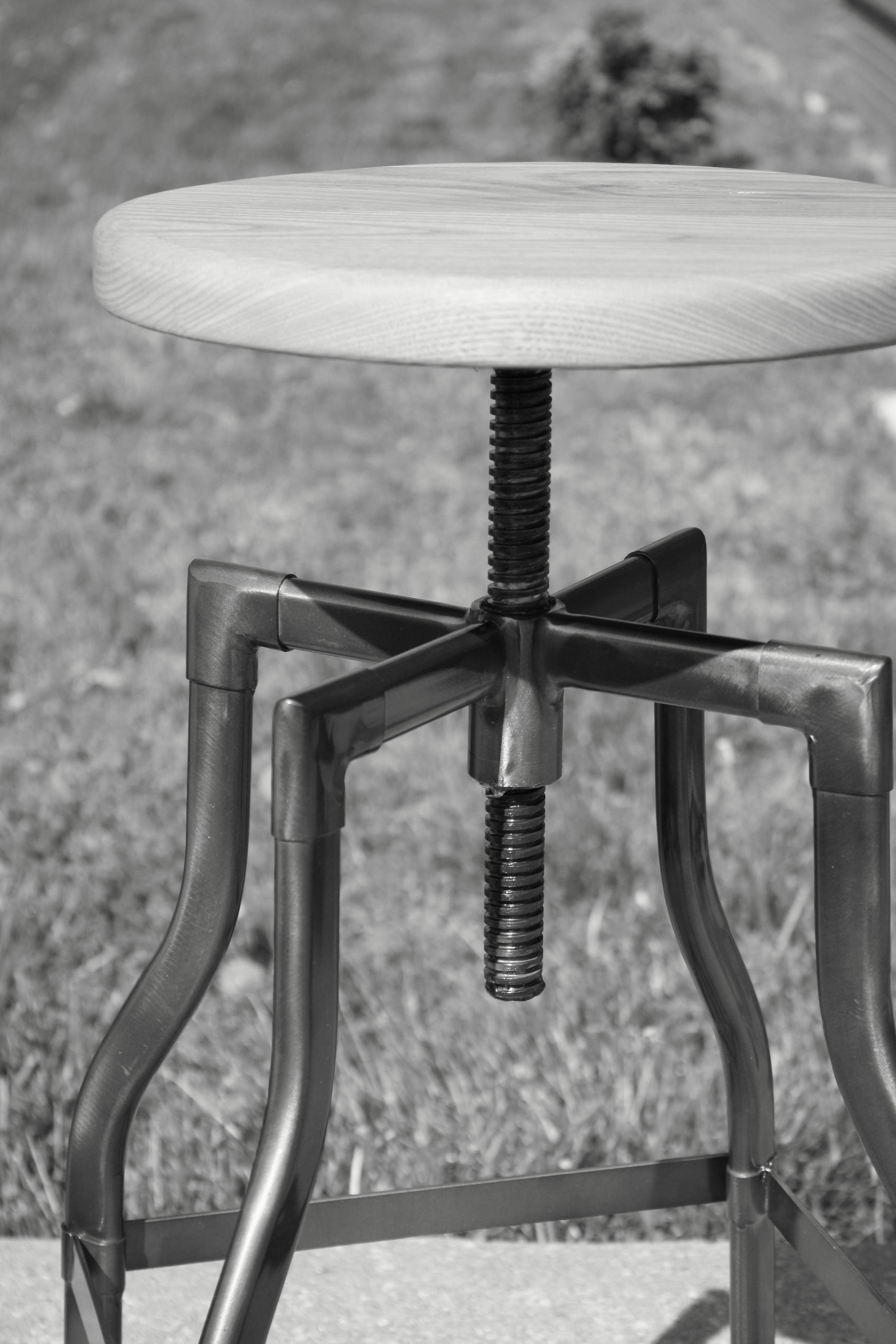Captivating Industrial Custom Barstool // Jakobe Furniture // Kansas City //  Www.jakobefurniture