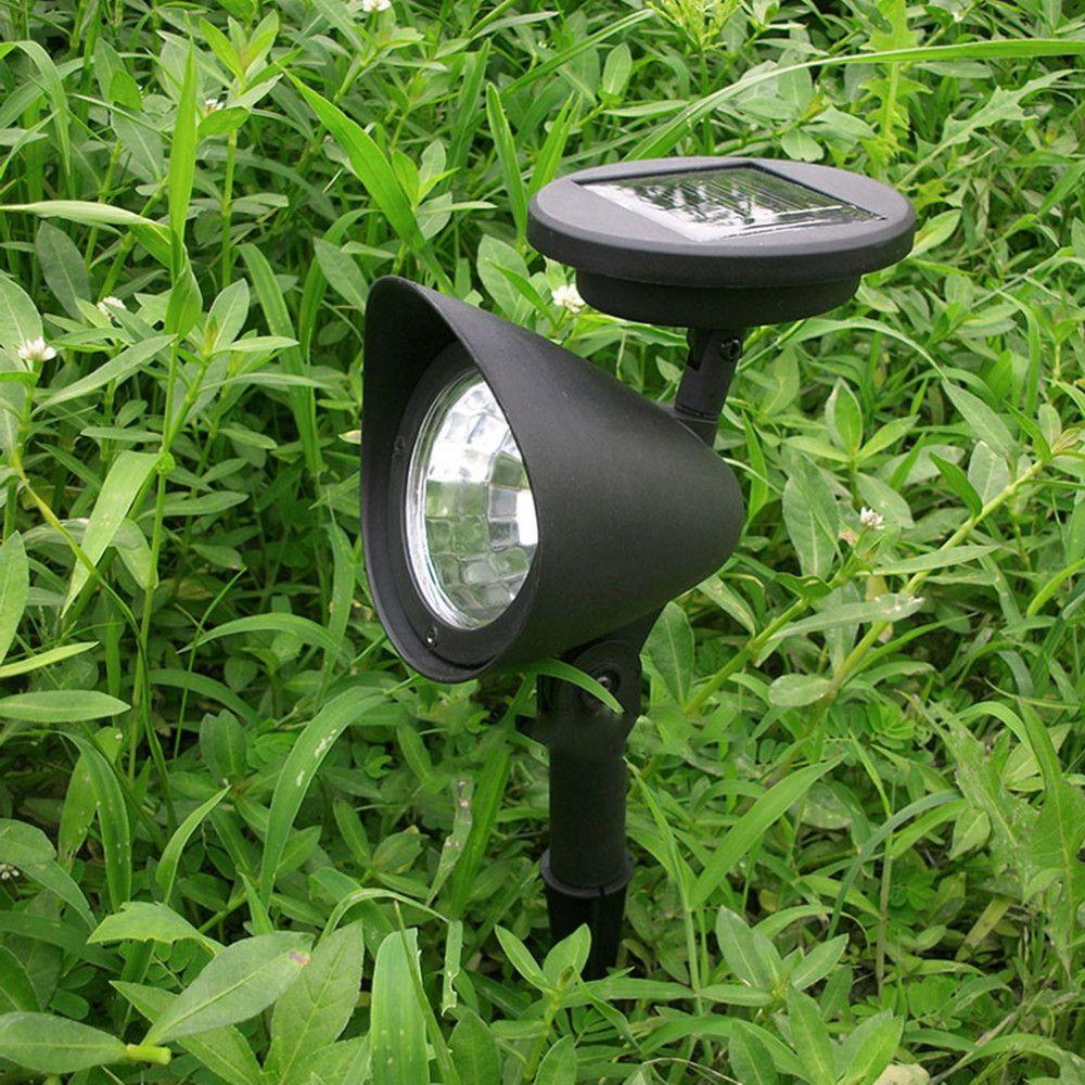 1pc New 3 LED Solar Powered Spotlight Outdoor Garden Landscape Lawn ...
