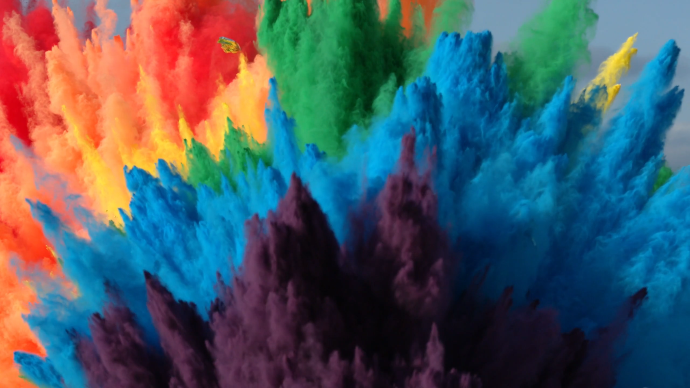 25 Airbags Rainbow Explosion In 4k The Slow Mo Guys Painting Holi Photo Explosion