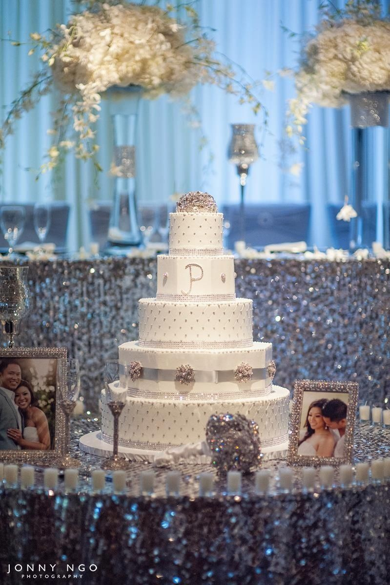 Bling wedding cake table happily ever after pinterest for Wedding cake table decorations