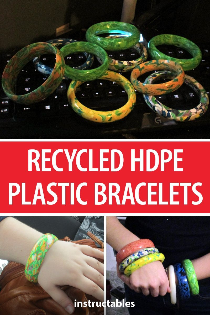 Making Bracelets From Recycled Hdpe Plastic Reuse Plastic Bottles Hdpe Plastic Recycle Plastic Bottles