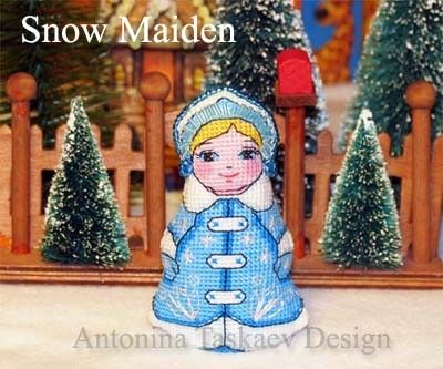 Snow Maiden double sided doll - Cross stitch pattern