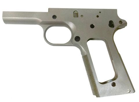 1911 80% FORGED 416R STAINLESS STEEL FRAME W/CHECKERED GRIPLoading ...