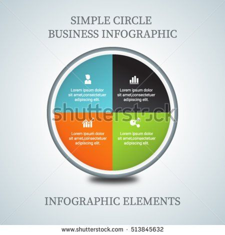 4 steps infographic template for business reporting, business - business reporting templates