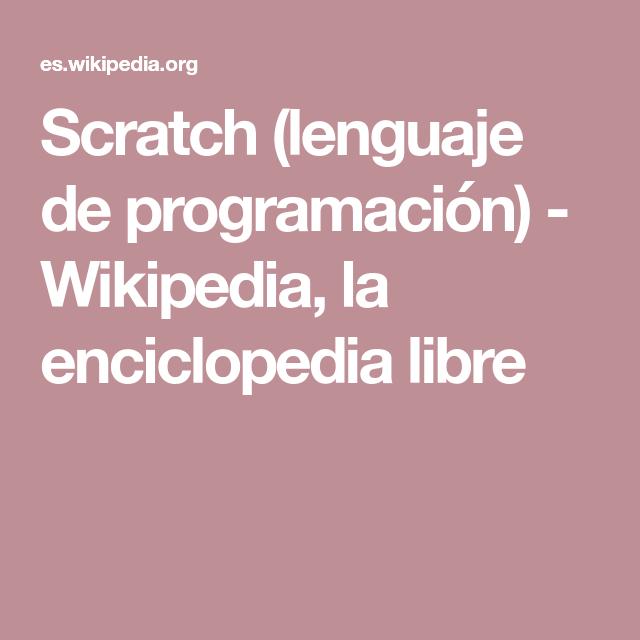 Pin En Investigando Scratch Grupo 7b