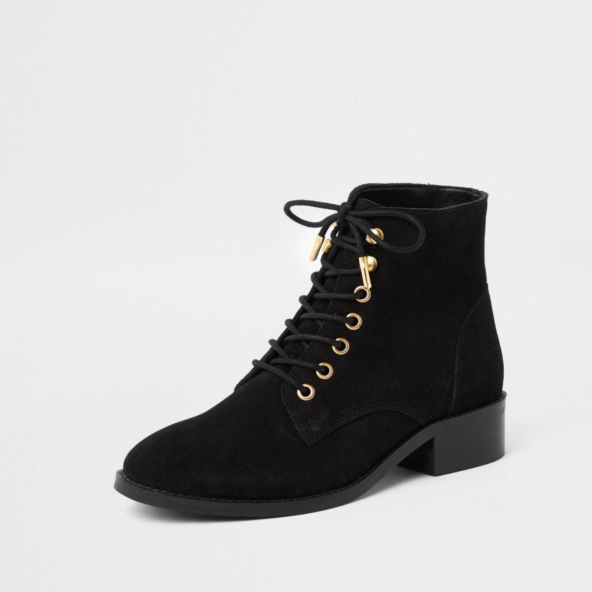 bottines lacets femme noires petit talon