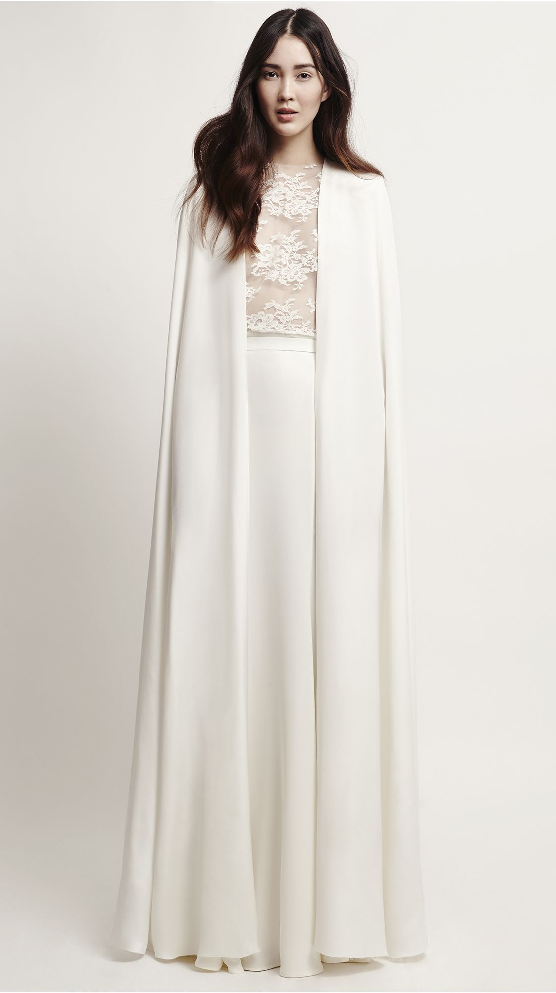 Lace dress with cape  Blanchett CapeVictory Skirt  Brautkleid  wedding dress