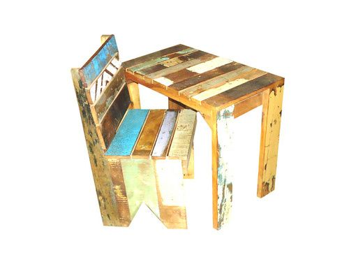 Kinderstoel Met Tafeltje.Stoere Sloophout Set Bestaande Uit Sloophout Kinderstoel En