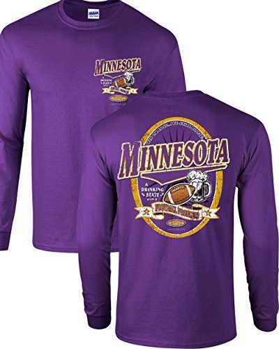 Purple T-Shirt Minnesota Football Fans Purple and Gold Till Im Dead and Cold Sm-5X