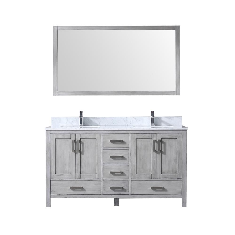 Home Decorators Collection Naples 60 In W Bath Vanity Cabinet Only In Distressed Grey For Single Bowl Nadga6022ds The Home Depot Home Decorators Collection Bathroom Vanities Without Tops Home