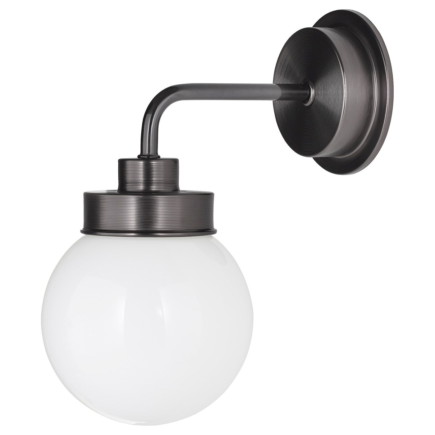 FRIHULT Wall lamp black in 2020 | Black wall lamps, Wall