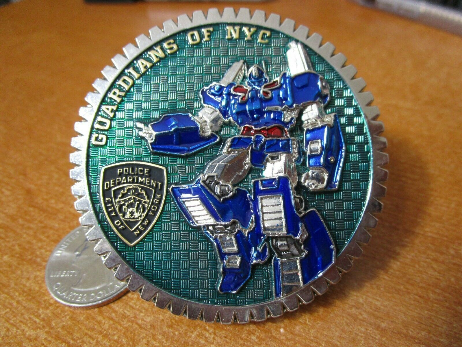Nypd Guardians Of New York City Police Transformers Challenge Etsy In 2020 Nypd Challenge Coins New York City