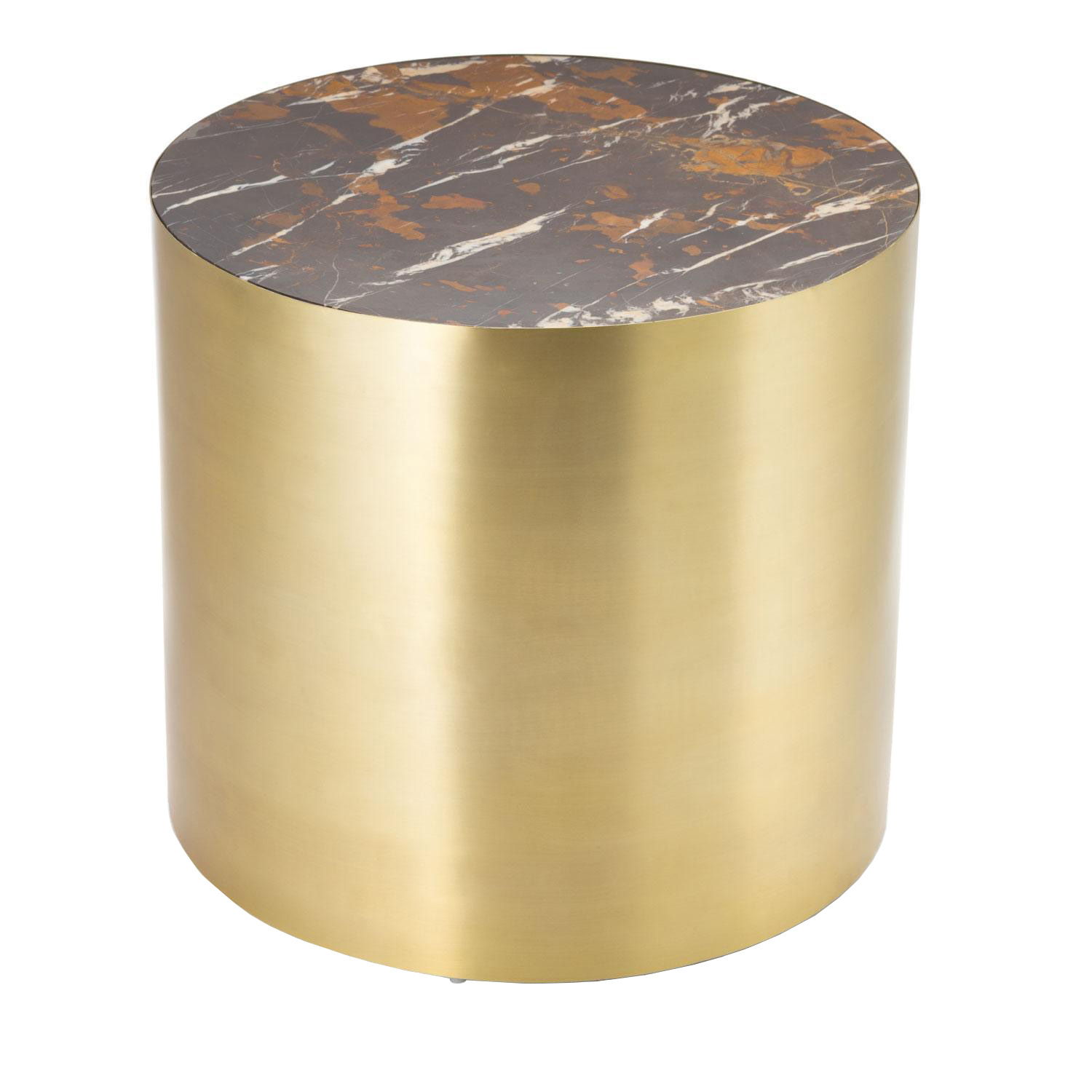 Brass Marble Conan Drum Table Small On Chairish Com Drum Table Mid Century Modern Side Table Side Table