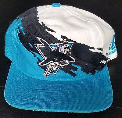 d76d9b50 San Jose Sharks Vintage Snapback Logo Athletic Splash Hat NHL Cap RARE  Logo7 SJ