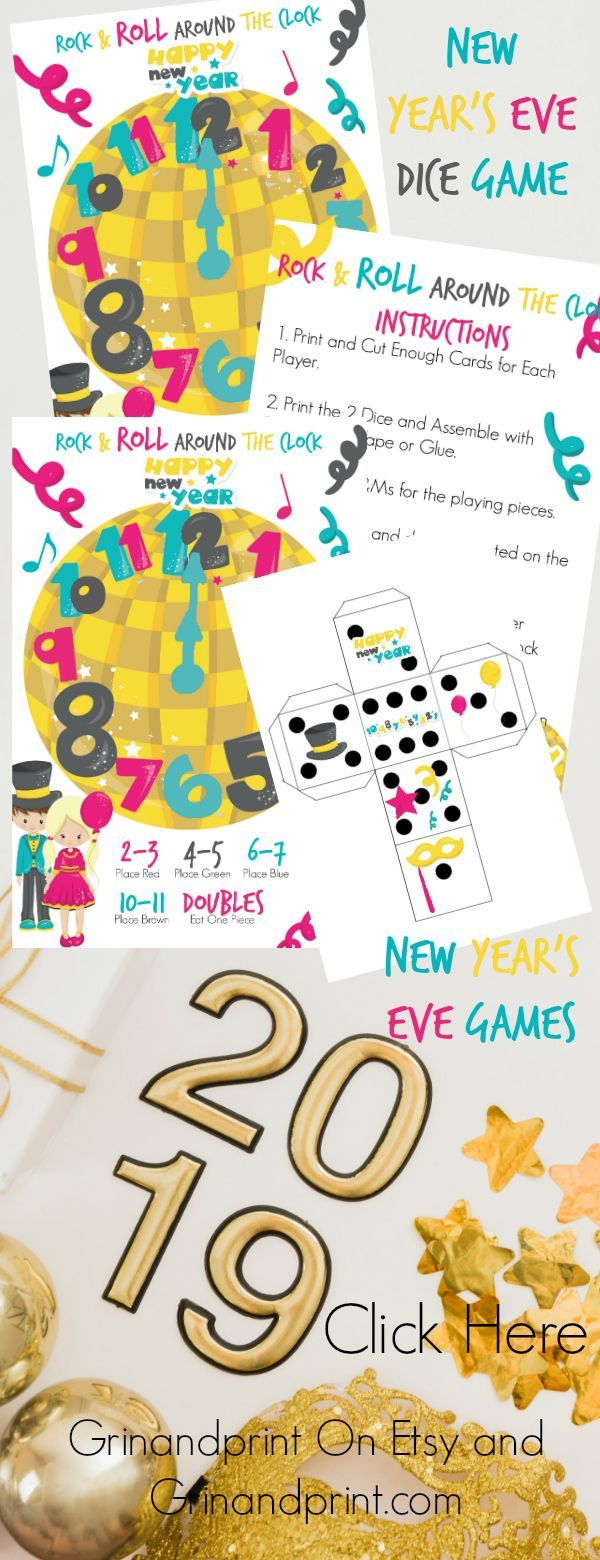 New Years Eve Games / New Years Eve Games for Kids / New