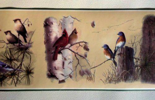 Country Birds Wallpaper Border HB2051B RollingBorders