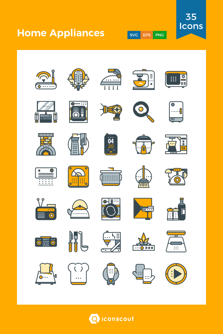 Download Home Appliances Icon Pack Available In Svg Png Eps Ai Icon Fonts Copper Appliances Slate Appliances Countertop Appliances