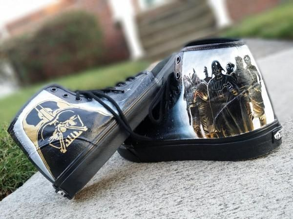 Incredibly Detailed Hand Painted Geeky Shoes by Eclectic Goods