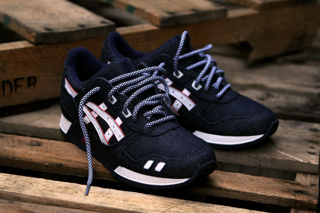 Asics Gel Lyte III with White Black 2 Tones Rope Lace Get your own laces at