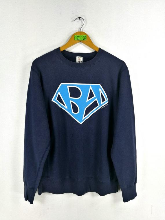 d8fd36bcd A BATHING APE Man Sweatshirt Small Blue Bape Bathing Ape Japan Nigo Vintage  Bape Big Logo Og Streetw