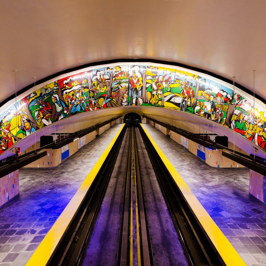 On Montreal Metro's rapid transit Green Line, Papineau Station is the 13th deepest station in the network (at almost 71 feet below street level).