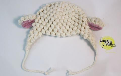 tutorial gorro crochet oveja patrón gratis | Crochet | Pinterest ...