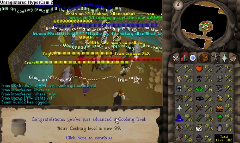 Reliving The First 99 Skill I Got 9 Years Ago Gratz Old School Runescape Relive