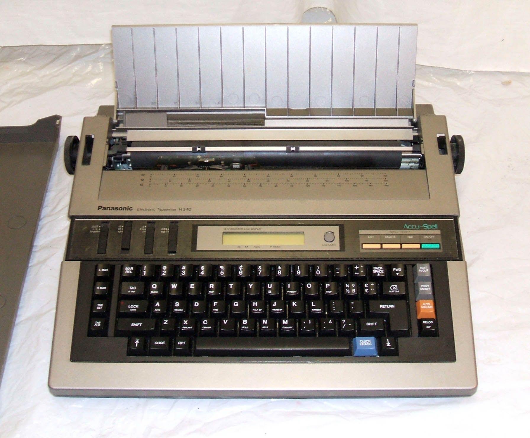 panasonic electric typewriter office equipment vintage mostly rh pinterest com KX Typewriter Panasonic E700m KX Typewriter Panasonic E700m