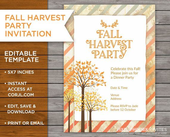 fall harvest party invite dinner party invitation dinner invite