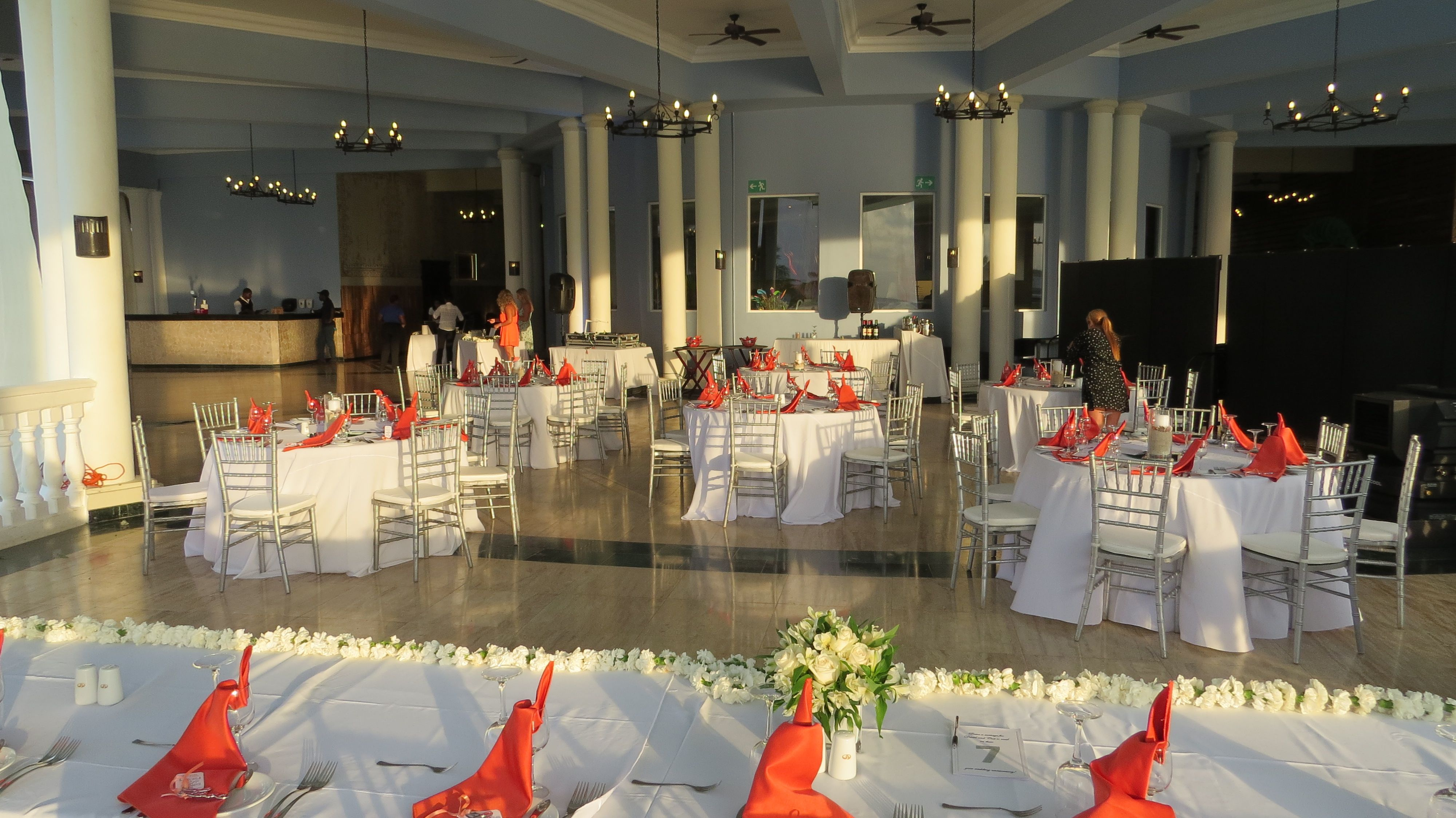 Wedding reception at Blue Lagoon Restaurant