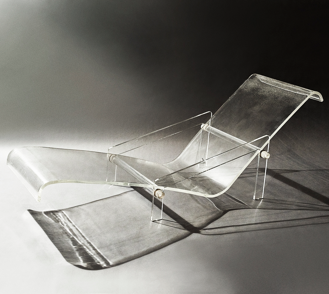 Gabriella Crespi Lucite Chaise Longue 1970s Chaired