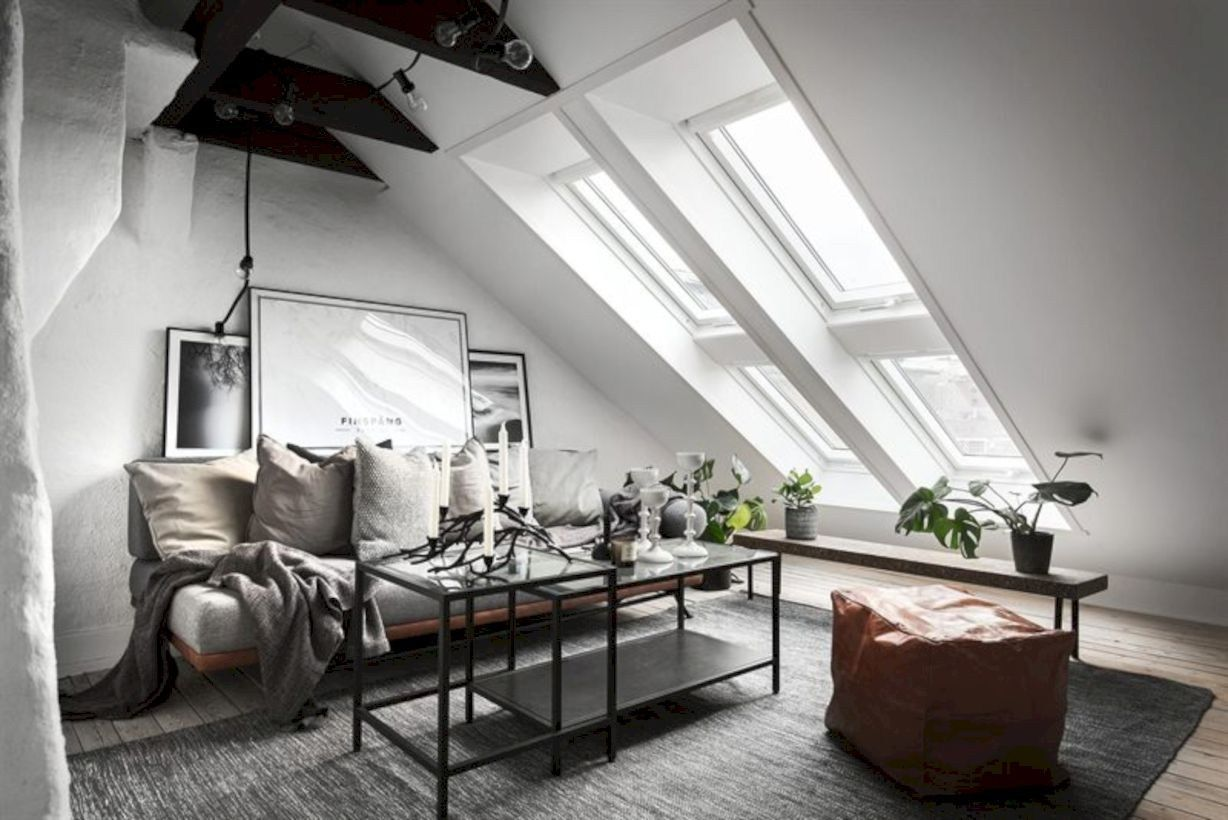 Industrial living room ideas for small apartment 05 | Industrial ...