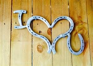 love you Horseshoe Art. Horseshoe Decor. by ShabbyWorks on Etsy