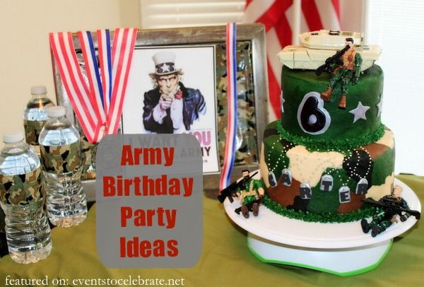 Army birthday party ideas on a budget totally creative for Army theme party decoration ideas