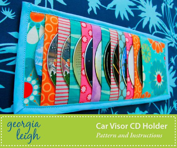 Sale  Car Visor CD Holder Sewing Pattern by GeorgiaLeighDesigns, $3.99