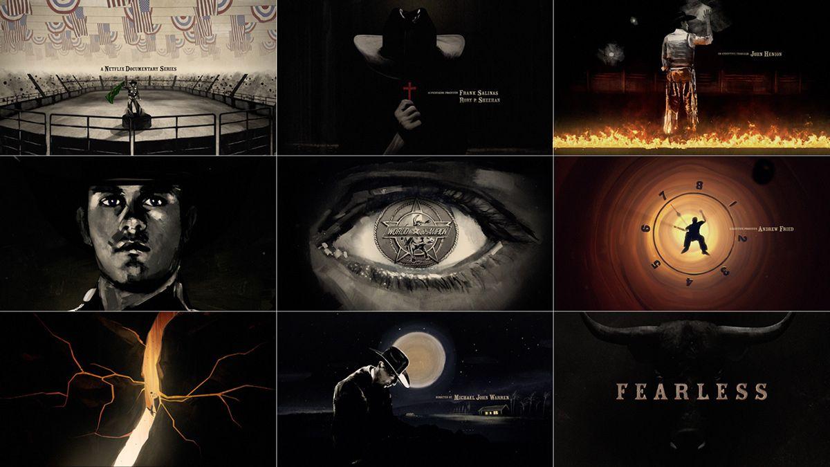 Netflix fearless title sequence on behance title