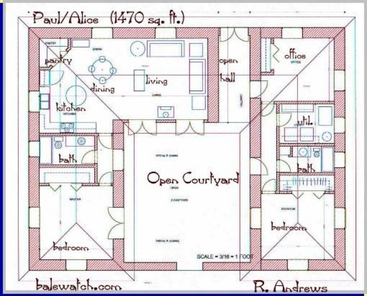 Amazing Brilliant U Shaped Home Plans Regarding Courtyards House Plans And Floor  Plans Pictures