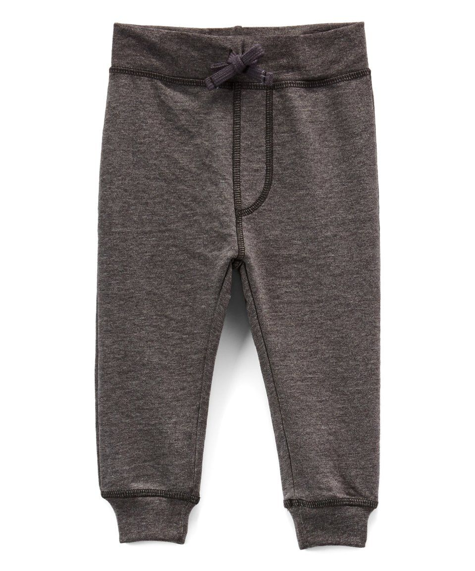 Take a look at this Charcoal Joggers - Infant, Toddler & Boys today!