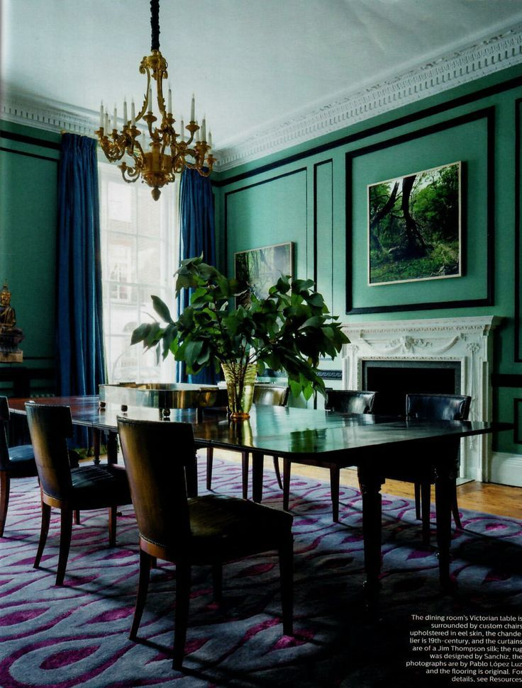 The Most Creative Dining Rooms By David Carter Design Dining Room Victorian London Townhouse House Interior