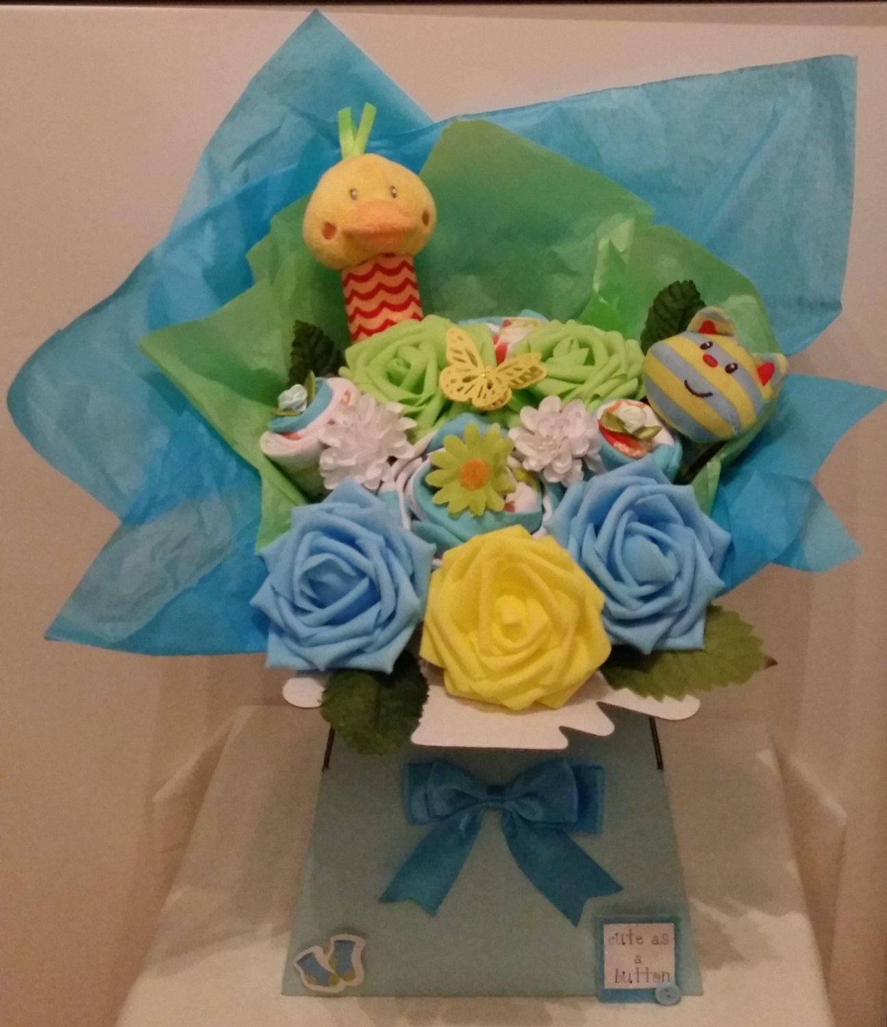Bright baby boys clothessock bouquet baby shower new baby gift bright baby boys clothessock bouquet baby shower new baby gift maternity negle Images