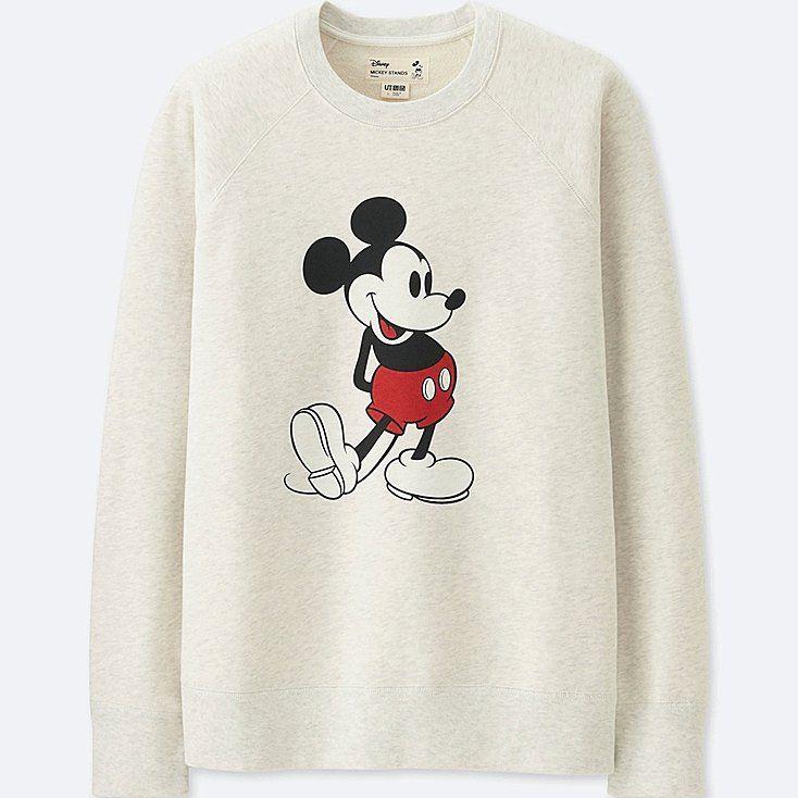 9cca30421b4 Men mickey stands long-sleeve sweatshirt