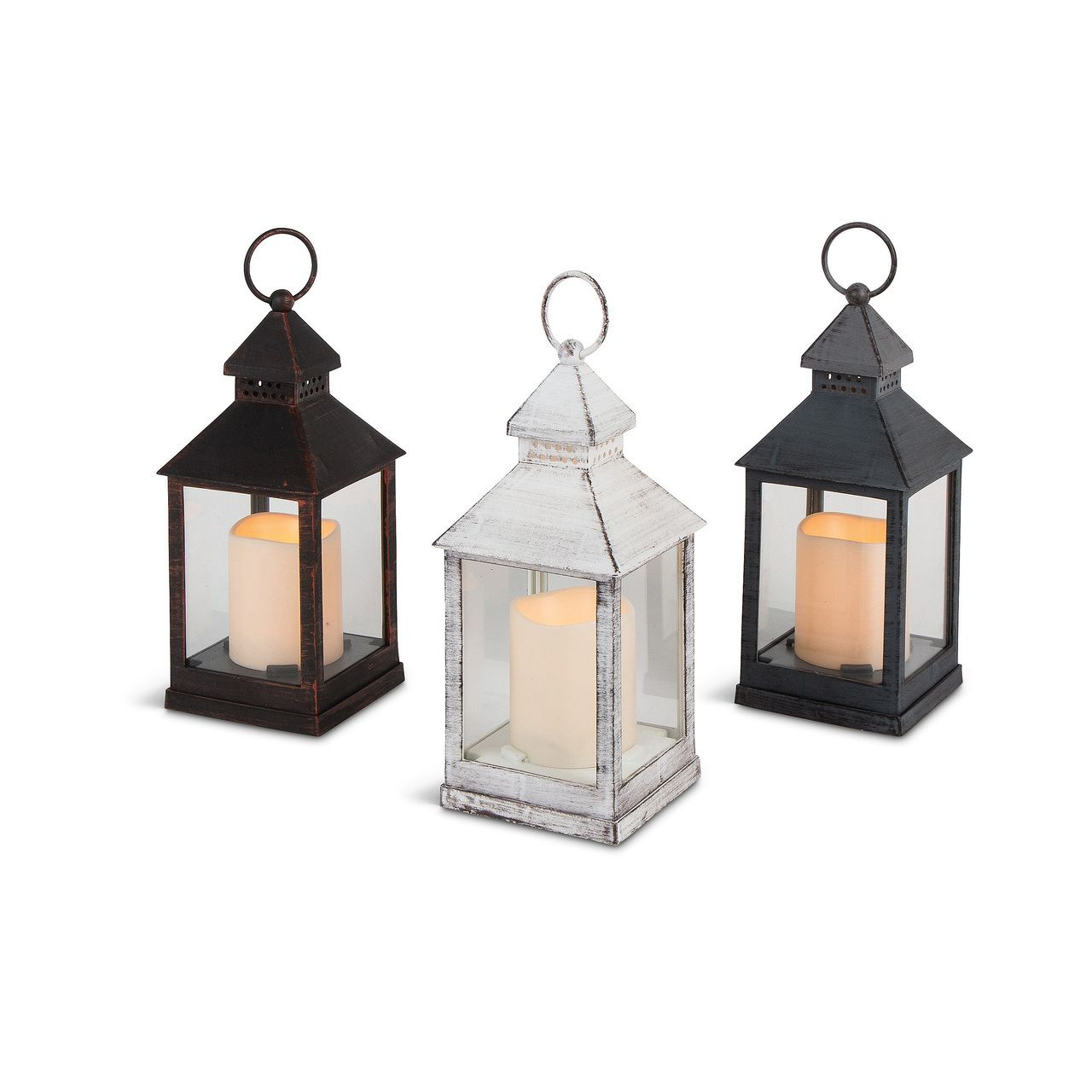 Plastic Lantern With Led Candle And Glass Panes And Timer 12 Lanterns Outdoor Lanterns Wedding Decor Style Lanterns
