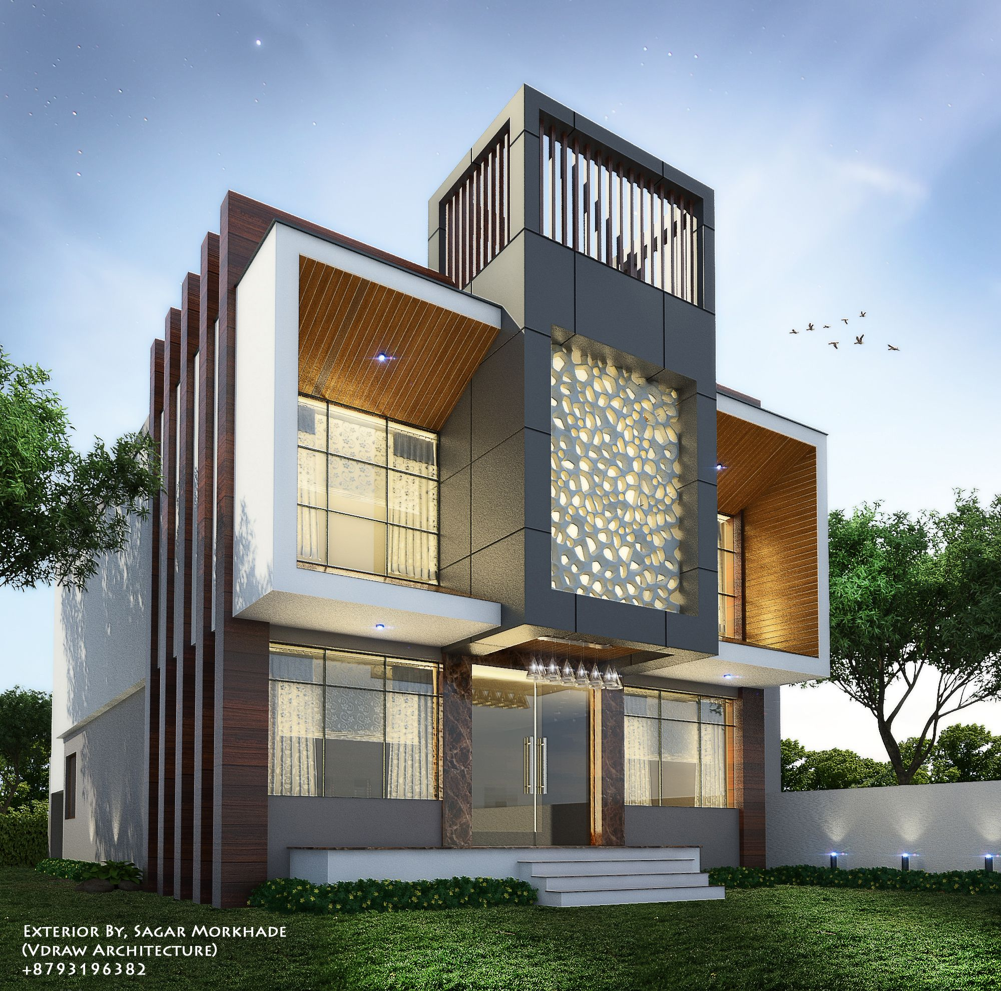 Exterior By, Sagar Morkhade (Vdraw Architecture