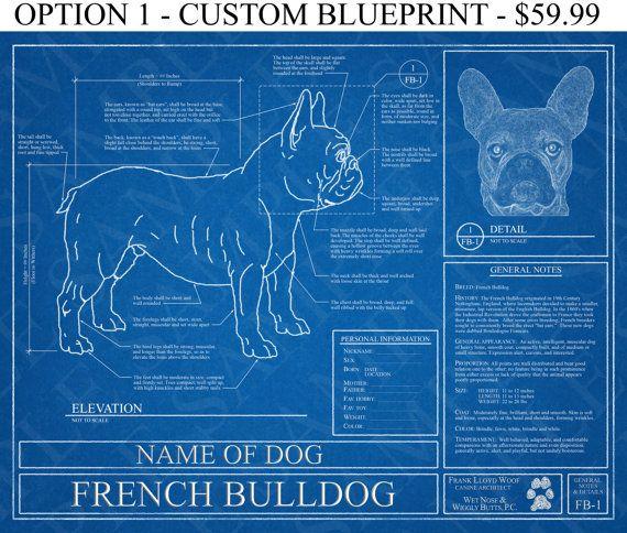 Personalized french bulldog blueprint french bulldog art french personalized french bulldog blueprint french bulldog art french bulldog wall art french bulldog malvernweather Gallery