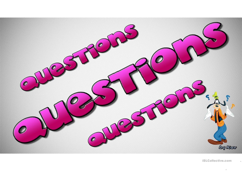 Questions Questions Questions Worksheet