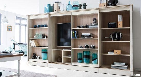 Bibliotheque Tv Grange Sur Mesure Mobilier De Salon Meuble Grange Maison