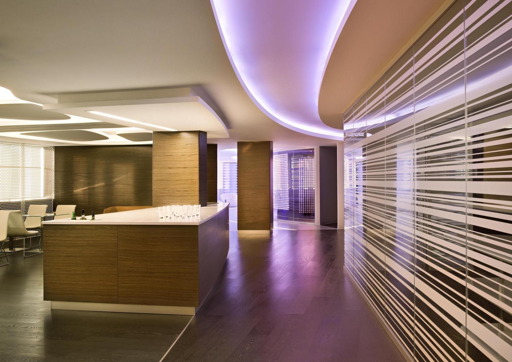 Interesting Home Architecture Design Displaying Beautiful Led Stripes Lighting Decorating Ideas As Well Kitchen