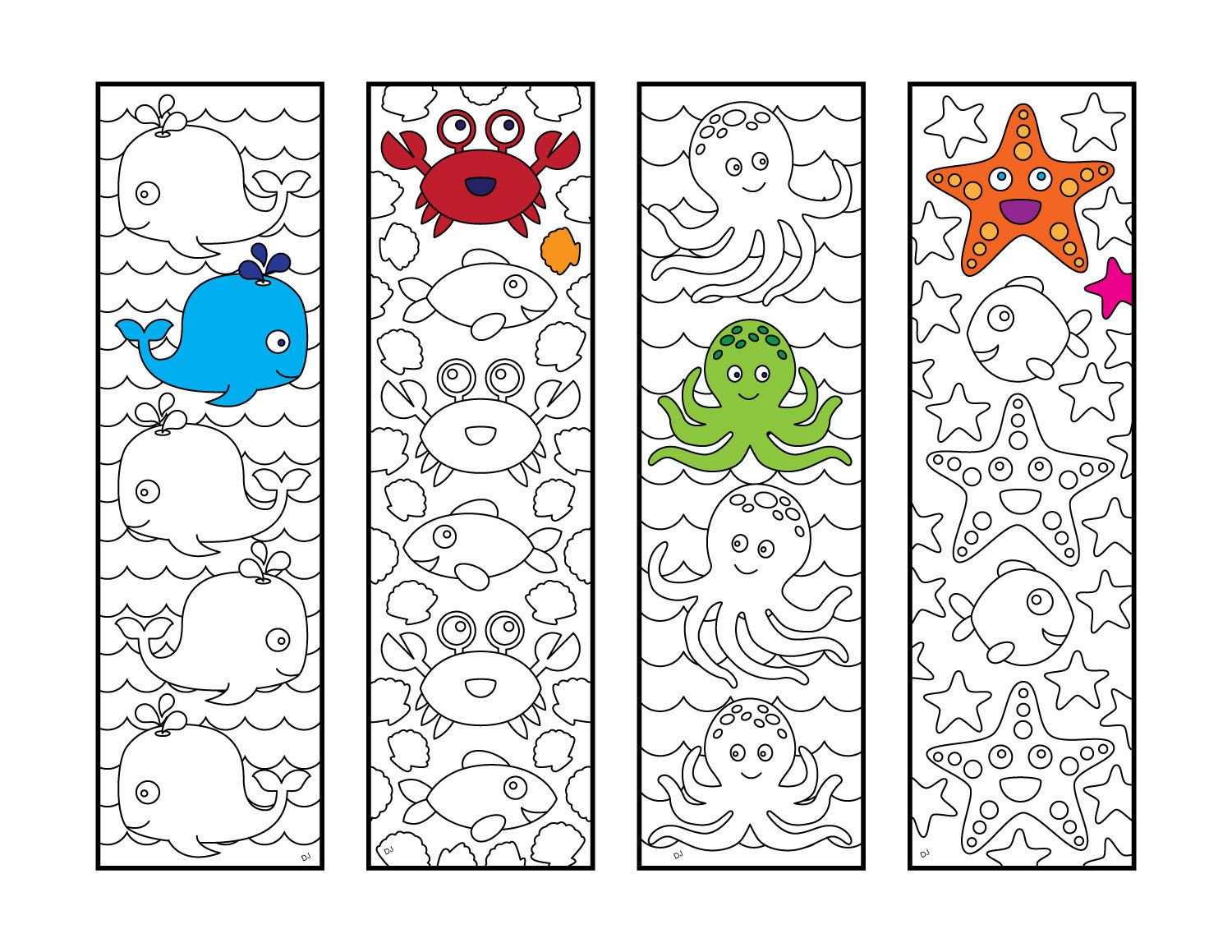 Pin On Printable Bookmarks To Color